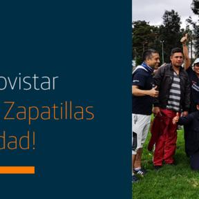 ¡Voluntarios Telefónica Movistar se calzan sus Zapatillas de la Solidaridad!